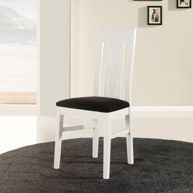 Chaise en bois blanc n°1 - MERCURE