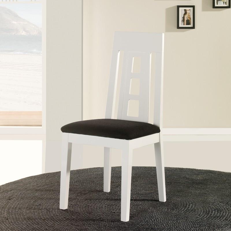 Chaise en bois blanc n°2 - MERCURE