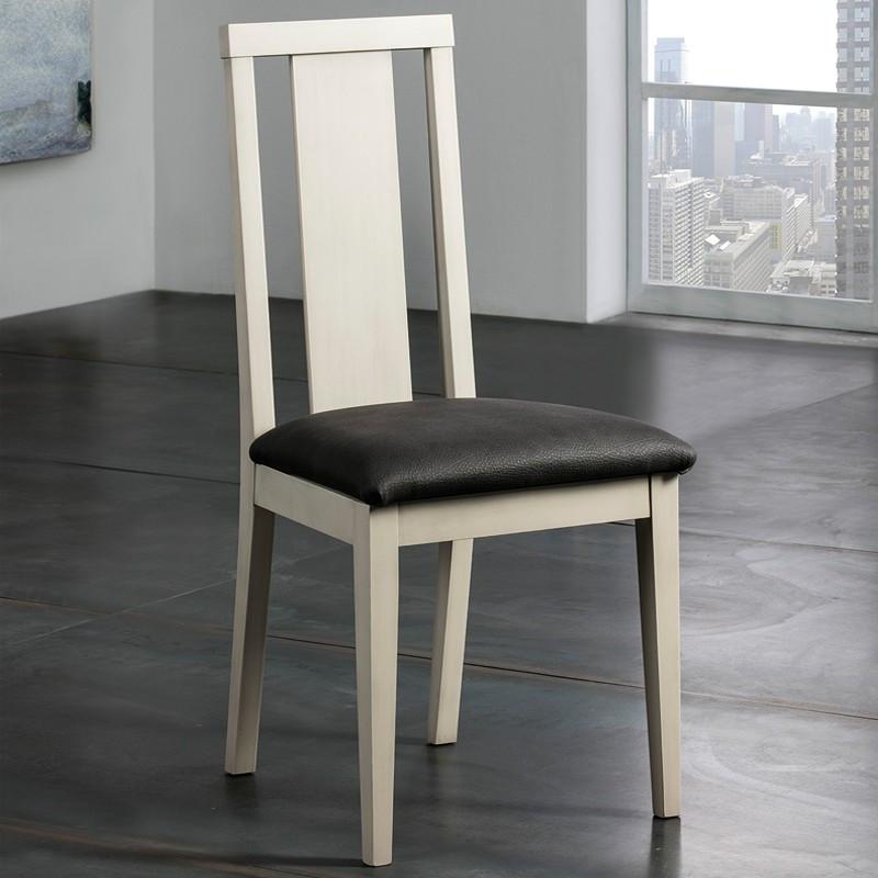 Chaise bois et noir n°1 - JANELLE