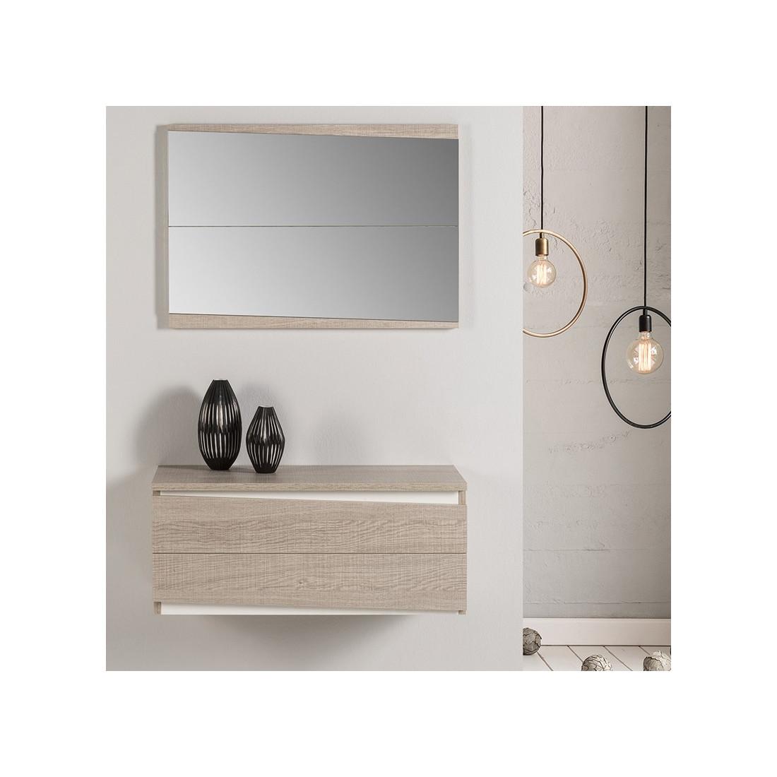 meuble d 39 entr e tiroirs ch ne clair berliose univers. Black Bedroom Furniture Sets. Home Design Ideas