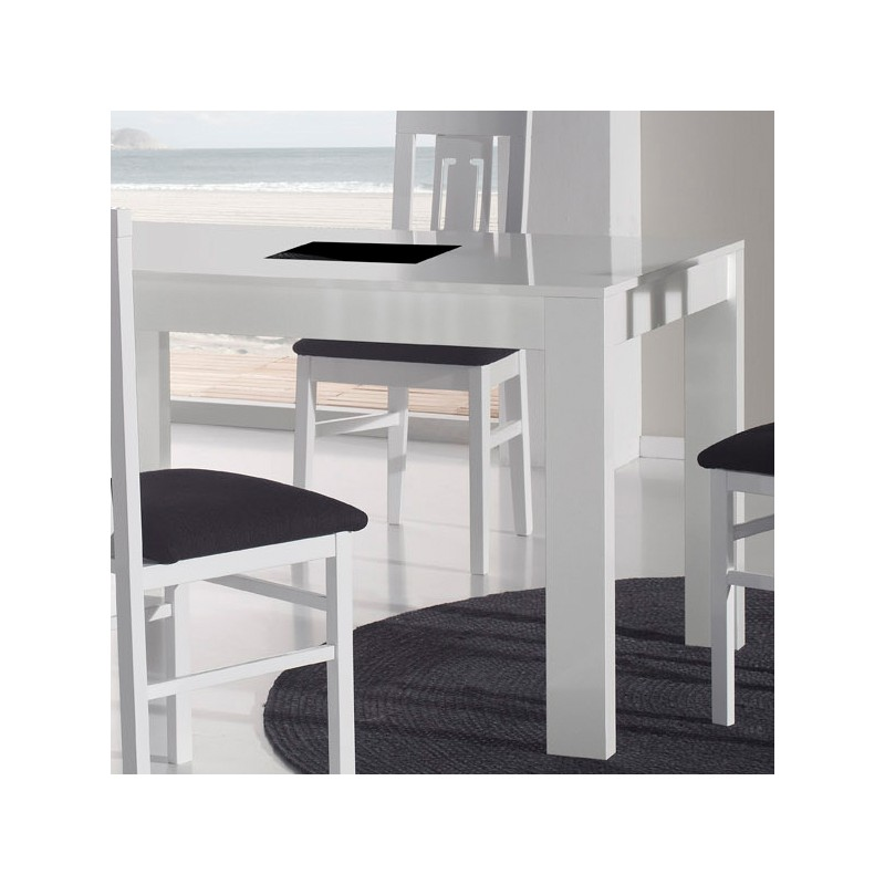 Ensemble table allonge chaises n 1 eating univers for Table chaise blanc laque
