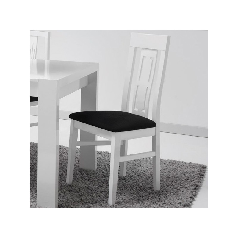 Ensemble table allonge chaises n 3 eating univers for Table chaise blanc laque