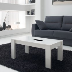Table basse blanche relevable n°2- MYSIA
