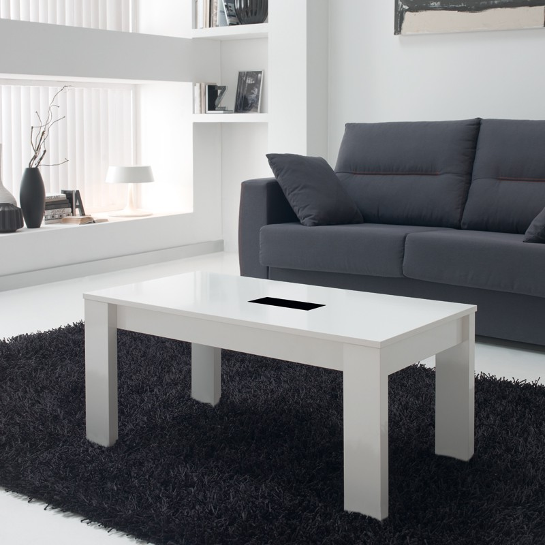 table basse blanche relevable moderne n 2 mysia univers du salon. Black Bedroom Furniture Sets. Home Design Ideas