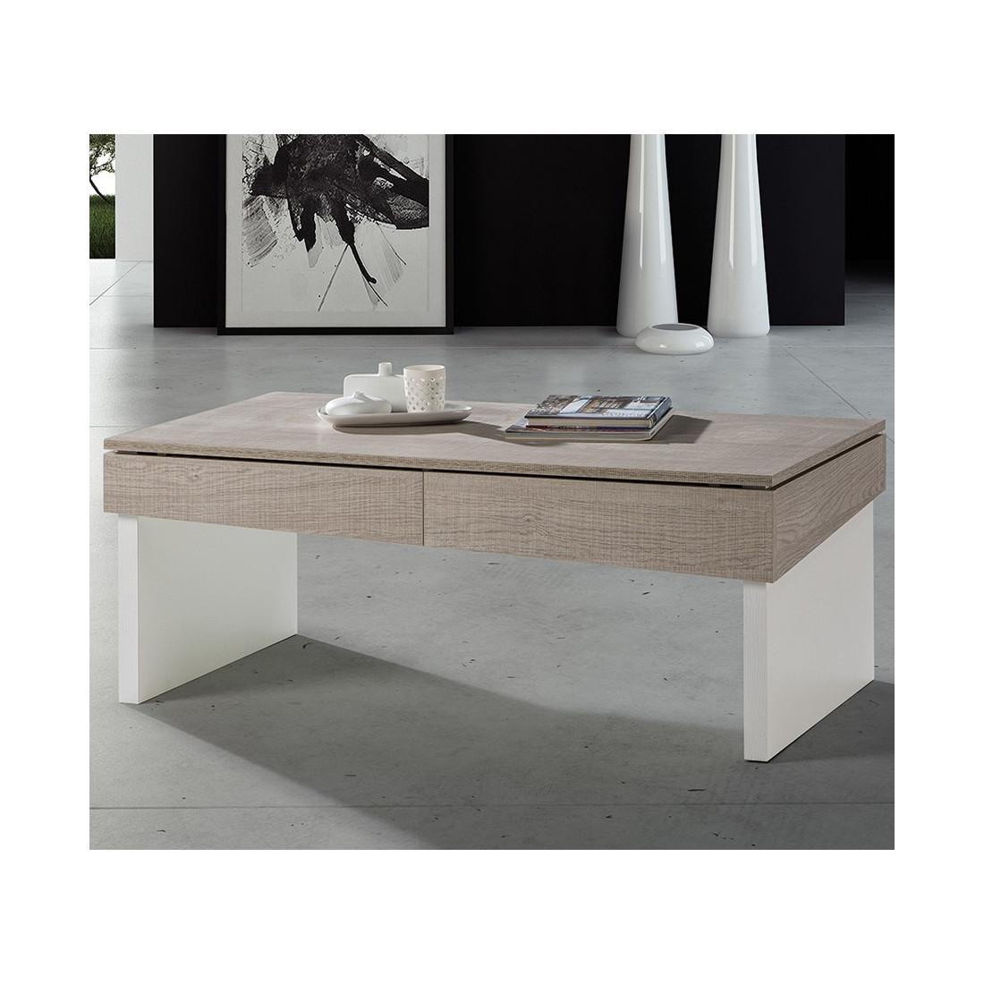 Table Basse Univers Moderne Relevable Salon Chêne Clair Berliose Du Y6gfb7yv