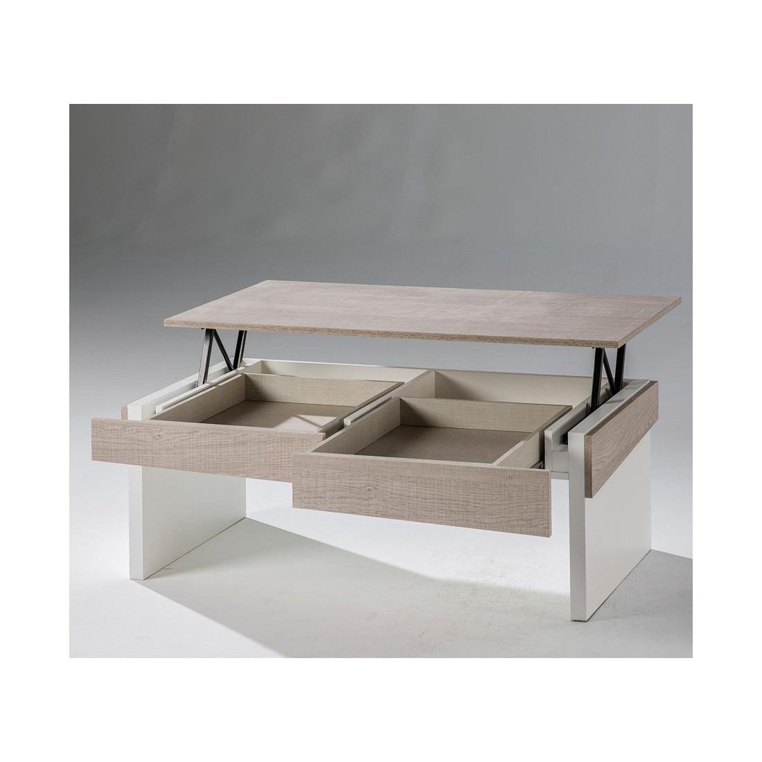 Basse Clair Moderne Table Relevable Du Chêne Berliose Univers Salon wiuTklXZOP
