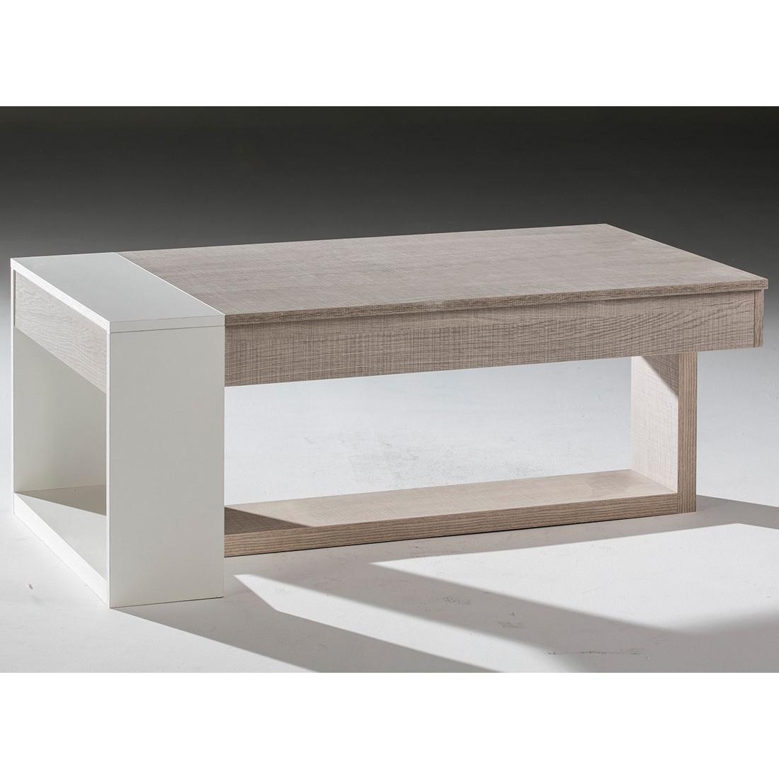Table Basse Relevable Moderne Chene Clair Esteban Univers Salon