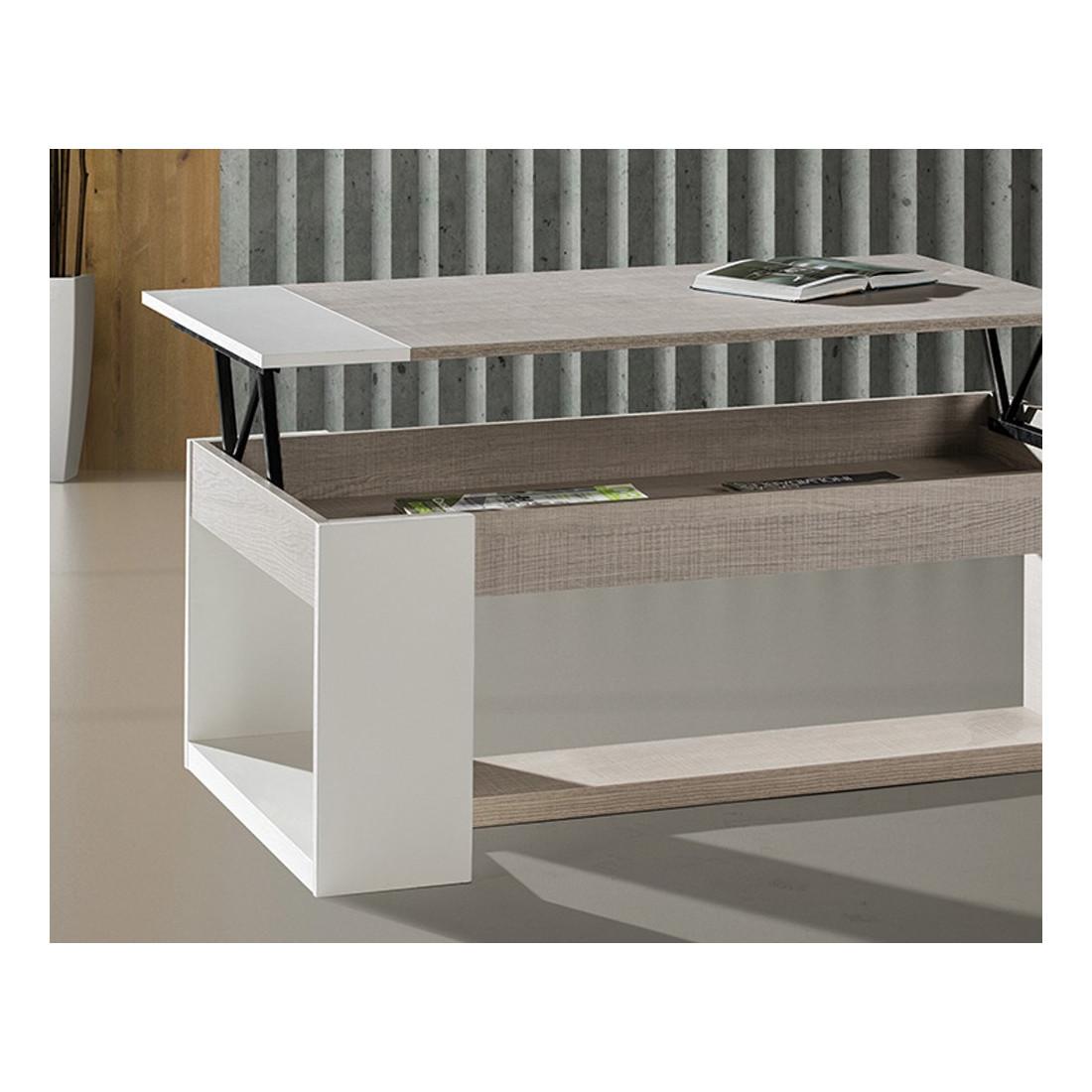 Table Basse Relevable Moderne Chêne Clair Esteban Univers Salon