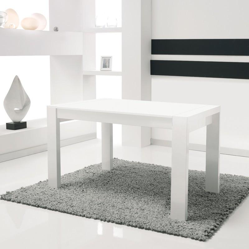 Table de repas à allonges blanche n°1 - BALZAC