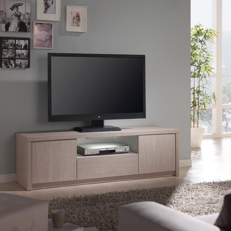 Meuble TV chêne clair - HONORE