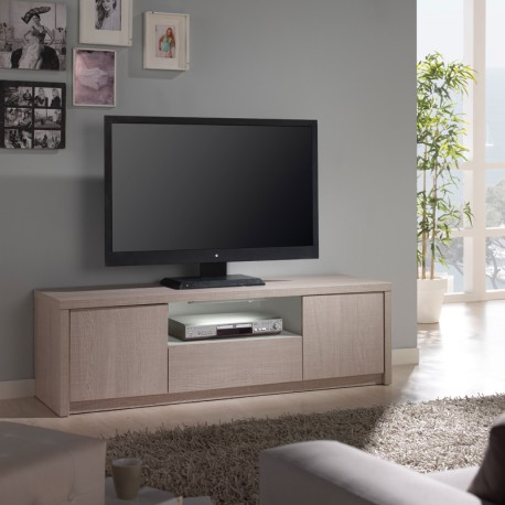 meuble tv ch ne clair n 1 clairage led 39 s honore. Black Bedroom Furniture Sets. Home Design Ideas