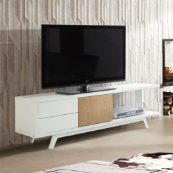 meuble tv scandinave 2 tiroirs 1 porte johnson univers