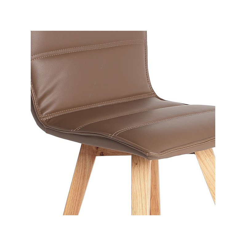 Duo de chaises marron kano univers salle manger for Chaise salle a manger simili cuir marron