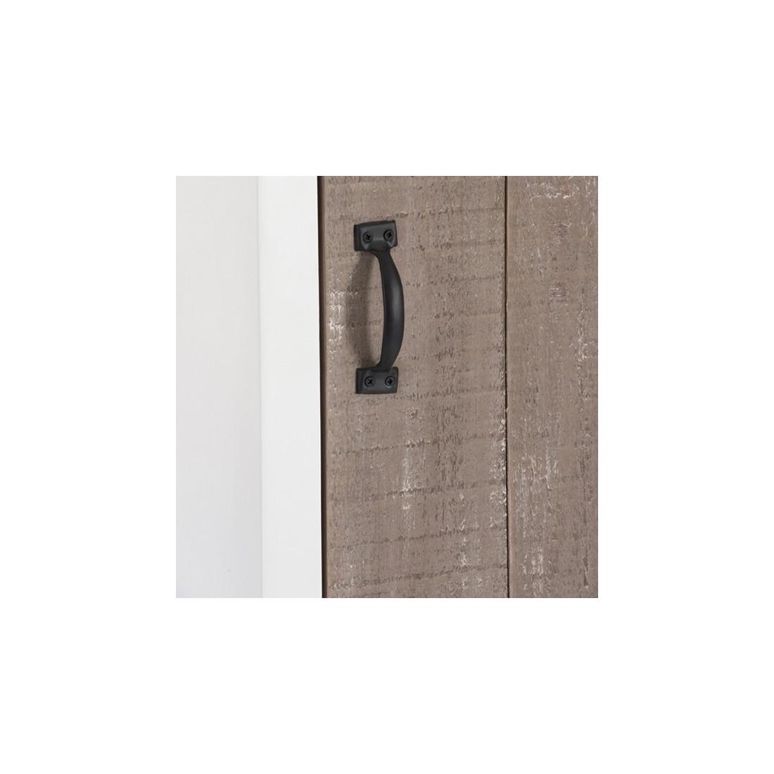 bonneti re 1 porte 3 tiroirs bois blanc canon univers de la chambre. Black Bedroom Furniture Sets. Home Design Ideas