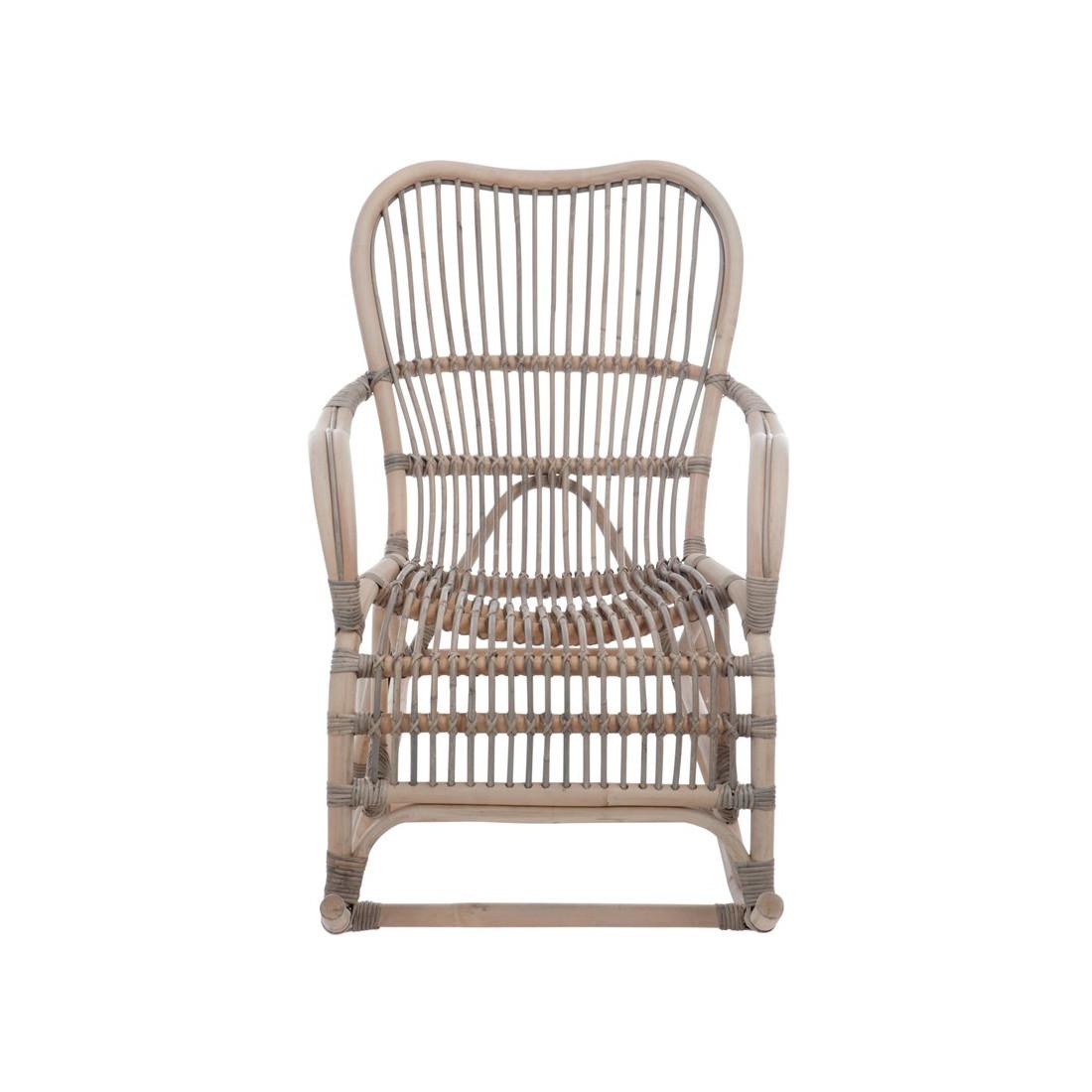 rocking chair bois rotin gris ricky univers assises et salon. Black Bedroom Furniture Sets. Home Design Ideas