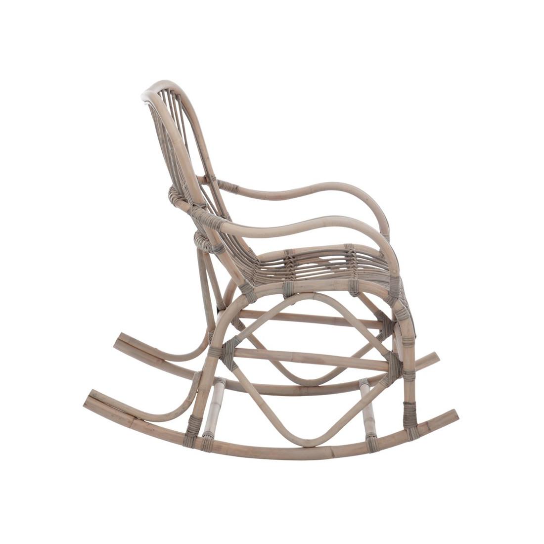 rocking chair bois rotin gris ricky univers assises et. Black Bedroom Furniture Sets. Home Design Ideas