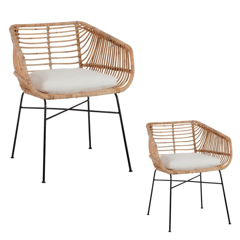 Duo de chaises en rotin -