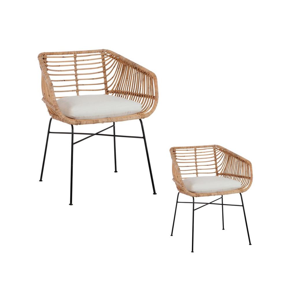 duo de chaises en rotin bloom univers salle manger et assises. Black Bedroom Furniture Sets. Home Design Ideas