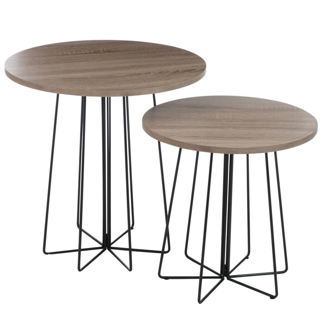 table gigognes rondes pied central fidji univers des petits meubles. Black Bedroom Furniture Sets. Home Design Ideas