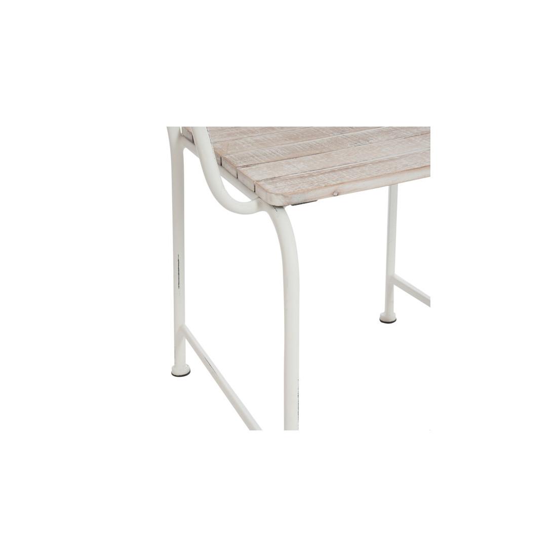 Chaise bois blanchi bord de mer roxane univers salle for Chaise bois blanc