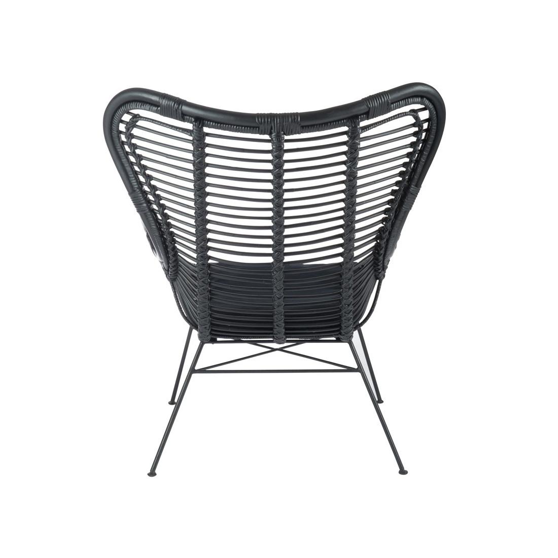 fauteuil robuste en rotin noir kohtao univers du salon et assises