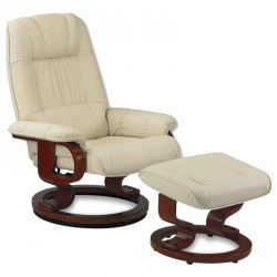 Fauteuil de relaxation Cuir Beige - EXCELLY