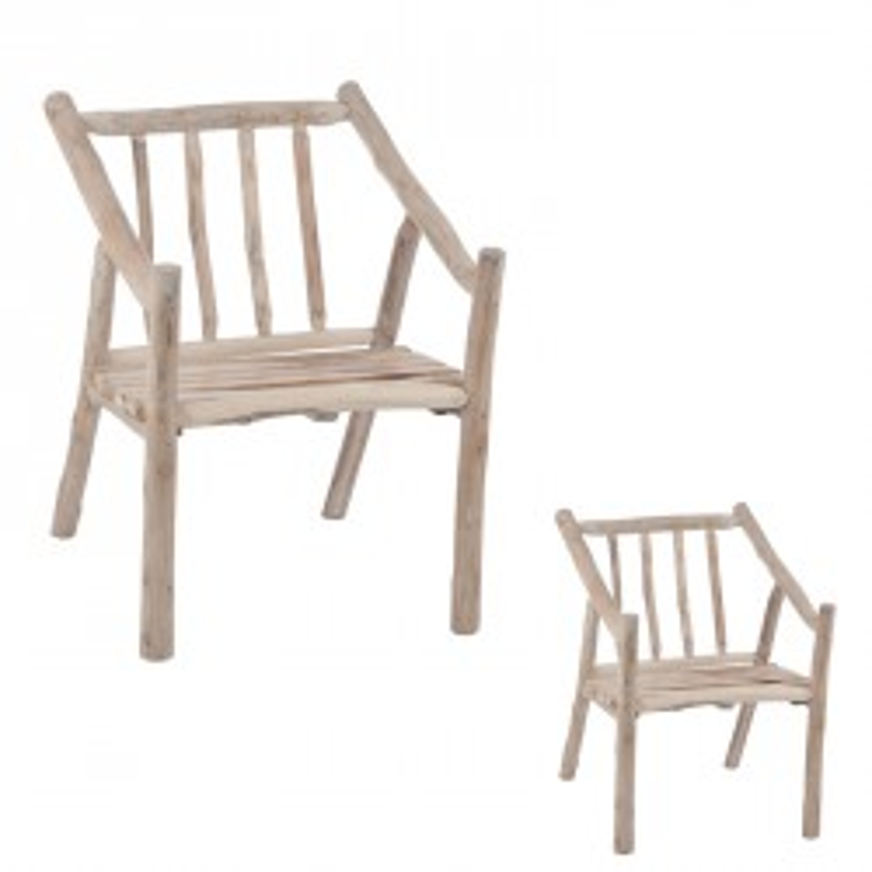 Duo de chaises en bois - OSCAR
