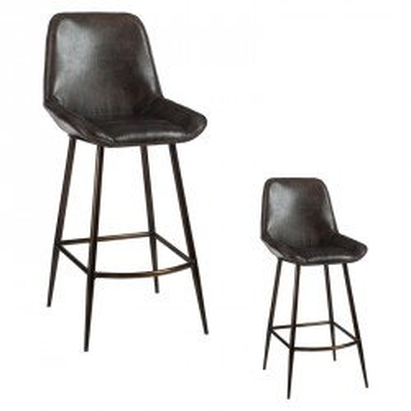 Duo de Chaises de bar Simili Cuir - DIXIE
