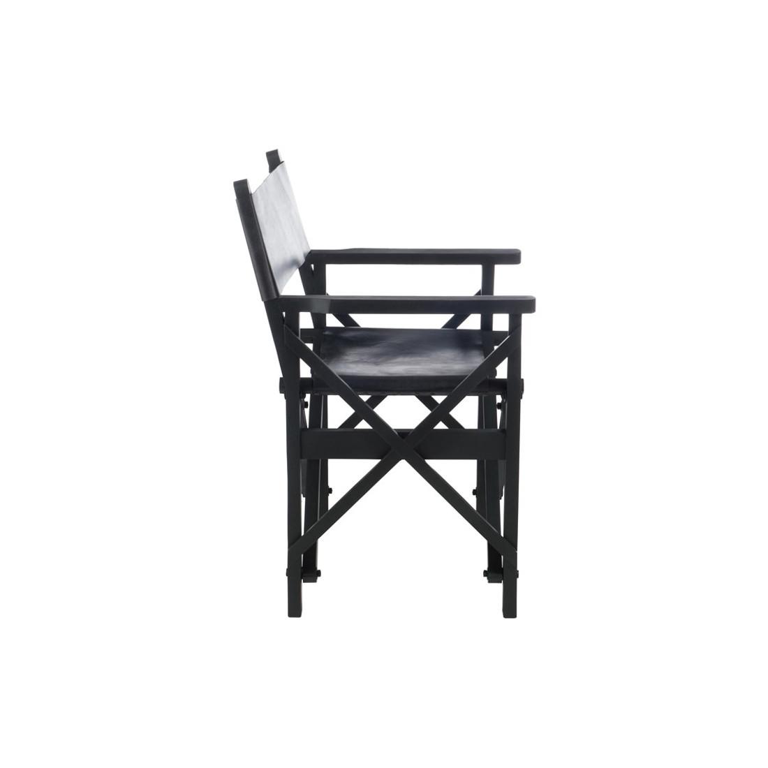 Chaise de Réalisateur Pliable cuir noir HOHA Univers du Salon