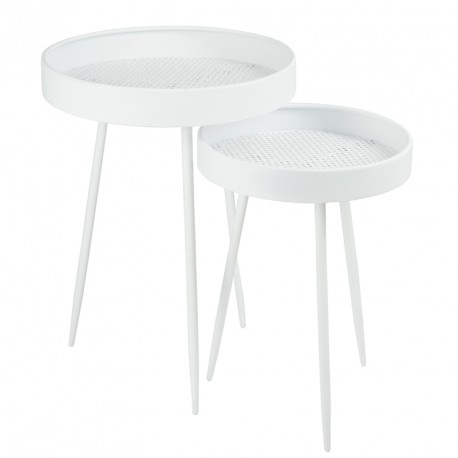 Tables gigognes Blanc - NEBOB