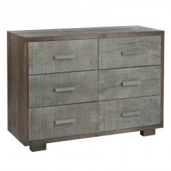 Commode 6 tiroirs Gris - CANON
