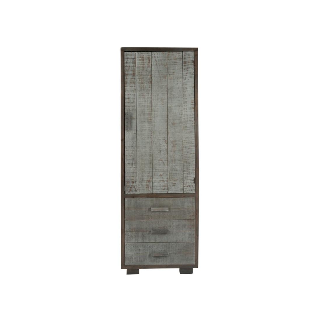 bonneti re 1 porte 3 tiroirs gris canon univers de la chambre. Black Bedroom Furniture Sets. Home Design Ideas