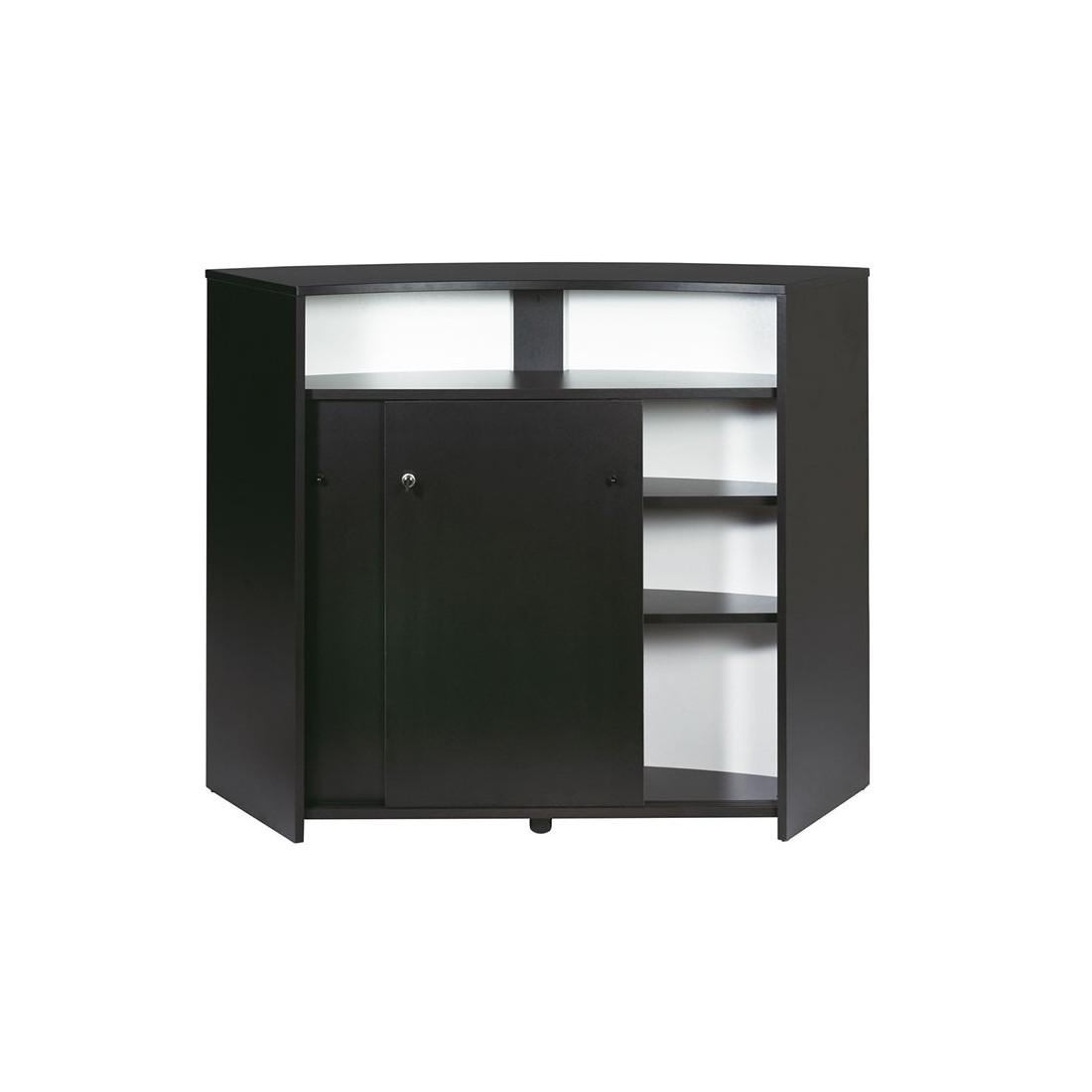 grand comptoir bar moderne portes noir daemar n 4. Black Bedroom Furniture Sets. Home Design Ideas