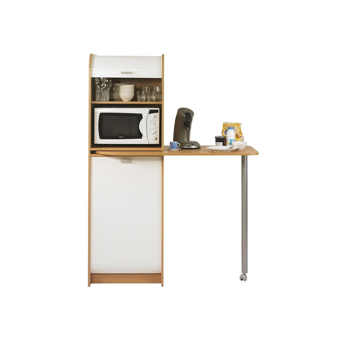 colonne de rangement plateau pivotant h tre vina. Black Bedroom Furniture Sets. Home Design Ideas
