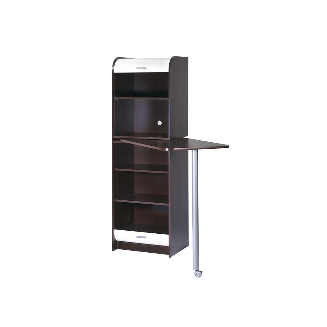colonne de rangement plateau pivotant weng vina. Black Bedroom Furniture Sets. Home Design Ideas