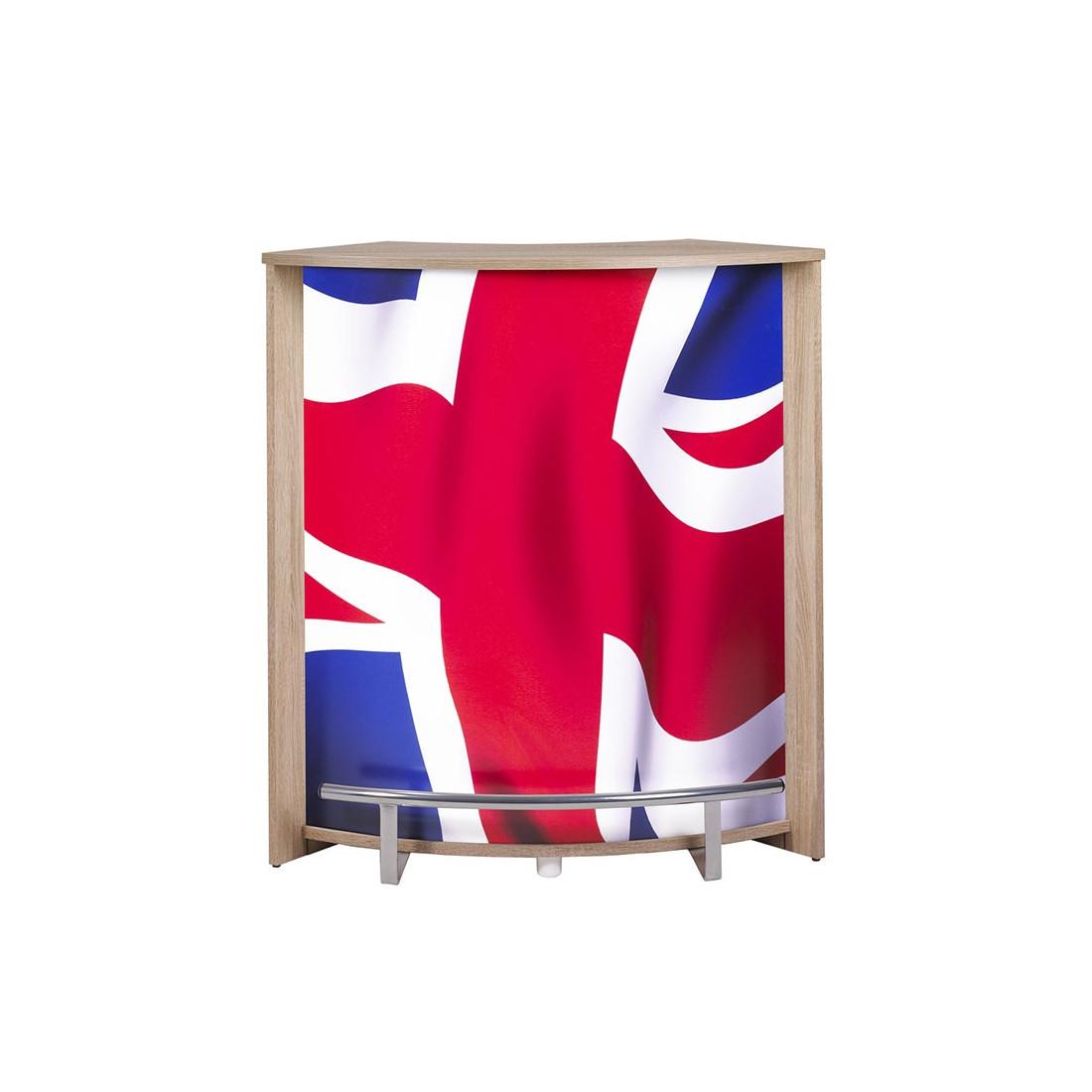 Comptoir de bar petit moderne bois ming n 3 drapeau gb univers salon - Petit bar de salon ...