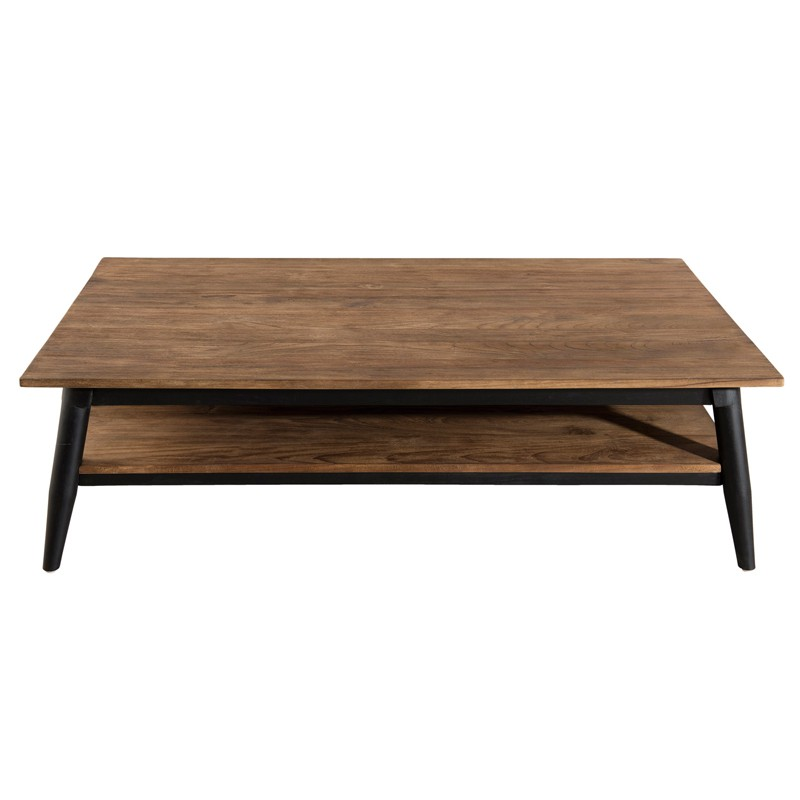 table basse 1 tag re bois fonc scandinave asio univers du salon. Black Bedroom Furniture Sets. Home Design Ideas