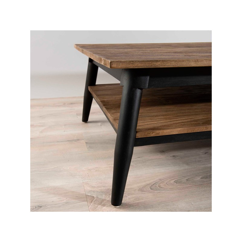 table basse 1 tag re bois fonc scandinave asio univers. Black Bedroom Furniture Sets. Home Design Ideas