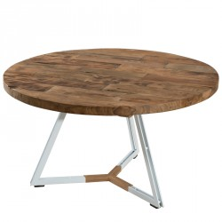 Table basse ronde avec pieds Blancs - ASIO