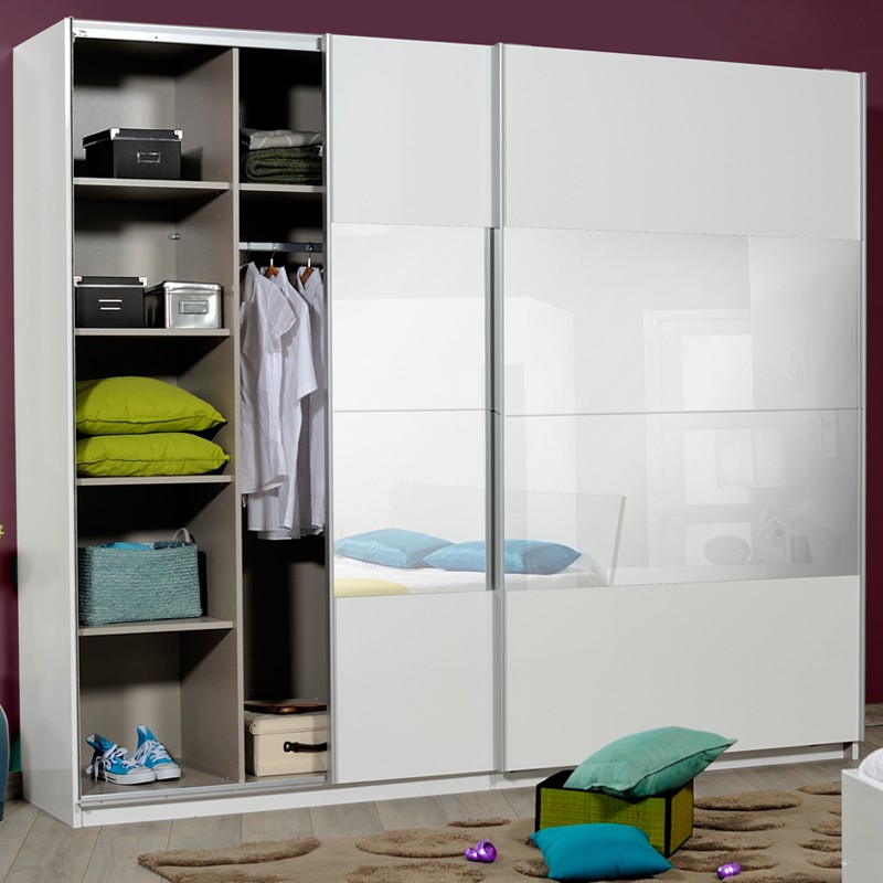 armoire dressing blanche canyon univers chambre tousmesmeubles. Black Bedroom Furniture Sets. Home Design Ideas