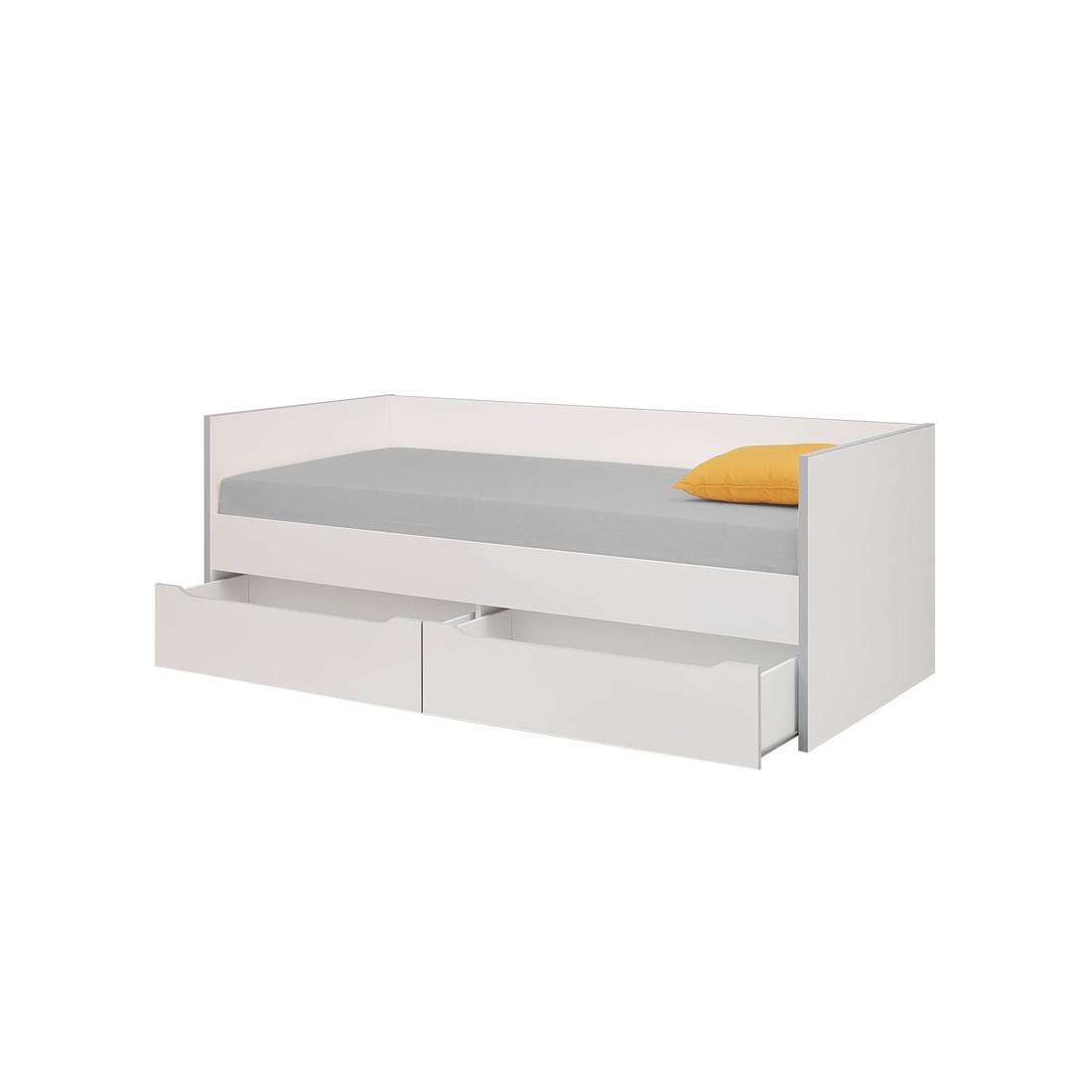 Lit pour couchage 90x200 cm jewel univers chambre tousmesmeubles - Banquette lit tiroir ...