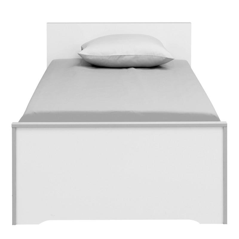 Lit Blanc/Gris 90*200 cm - JEWEL