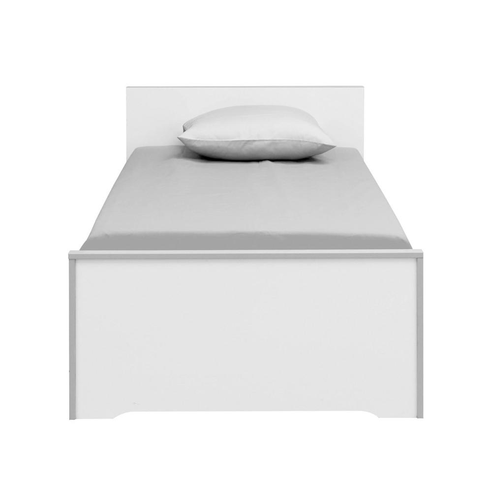 Lit Blanc/Gris 90*190 cm - JEWEL