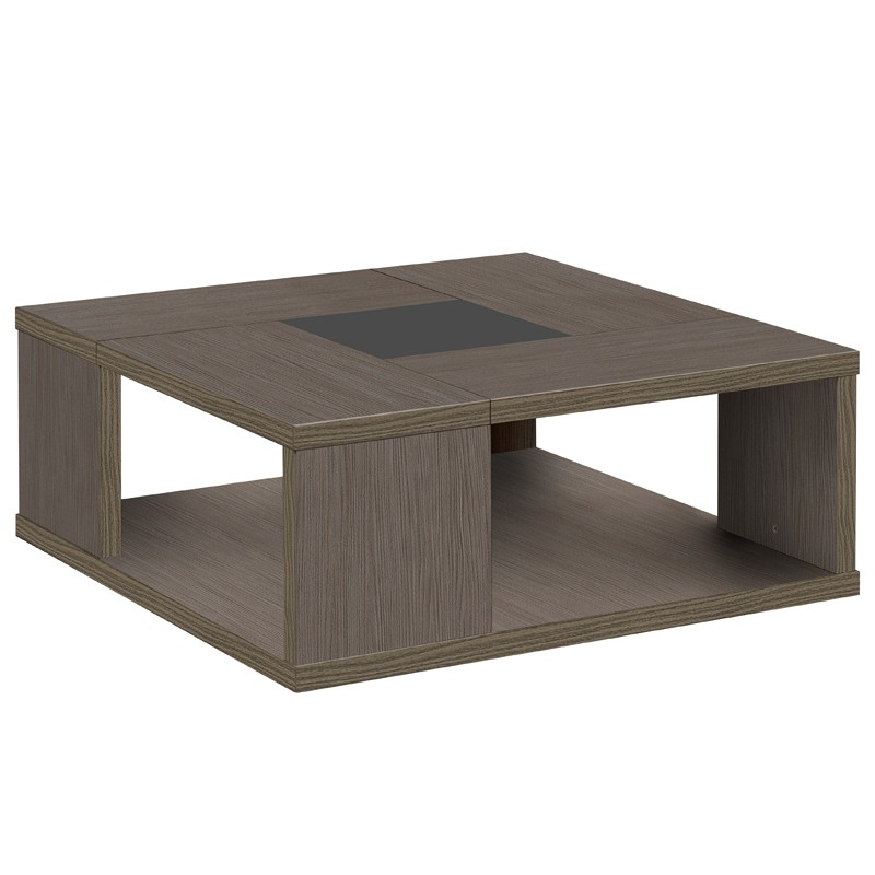 Basse Univers Chêne Carrée Salon Cérusé Table Hanny n8XONwkZ0P