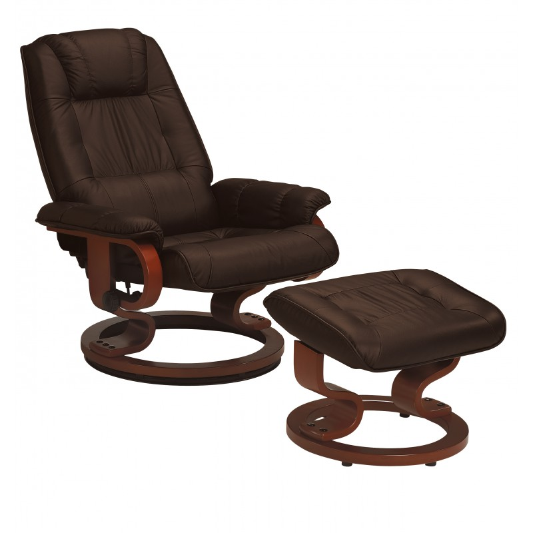 Fauteuil de relaxation cuir moka univers du salon - Fauteuil de relaxation ...
