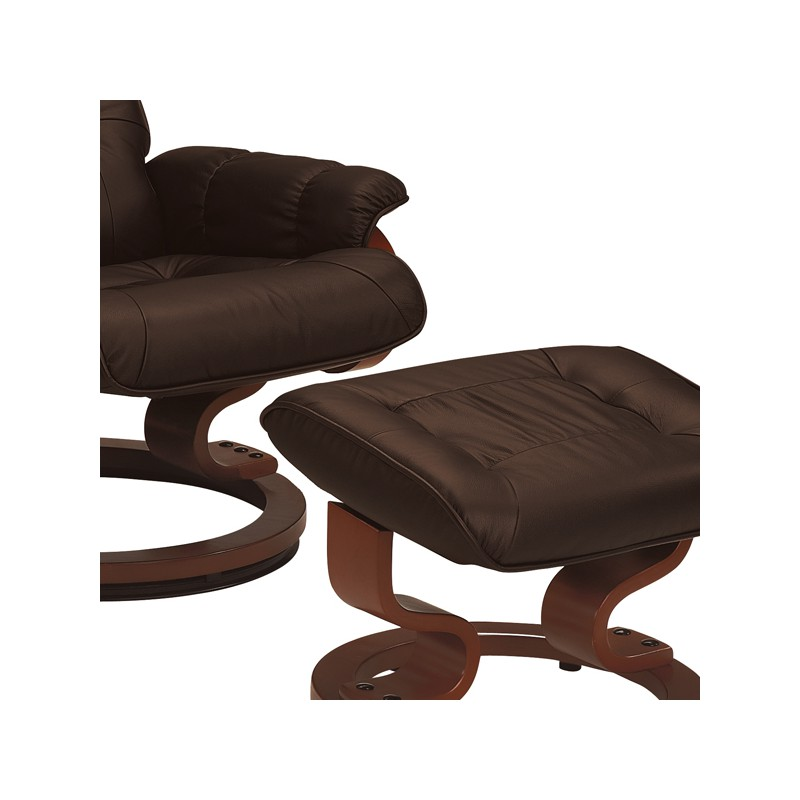 fauteuil de relaxation cuir moka univers du salon tousmesmeubles. Black Bedroom Furniture Sets. Home Design Ideas