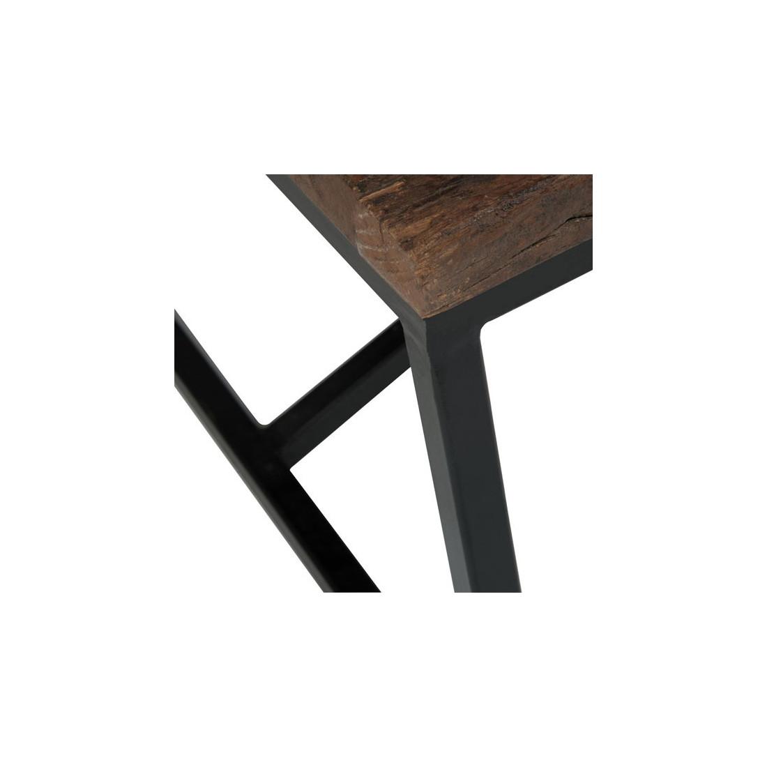 table basse industrielle plateau bois brut povy univers. Black Bedroom Furniture Sets. Home Design Ideas