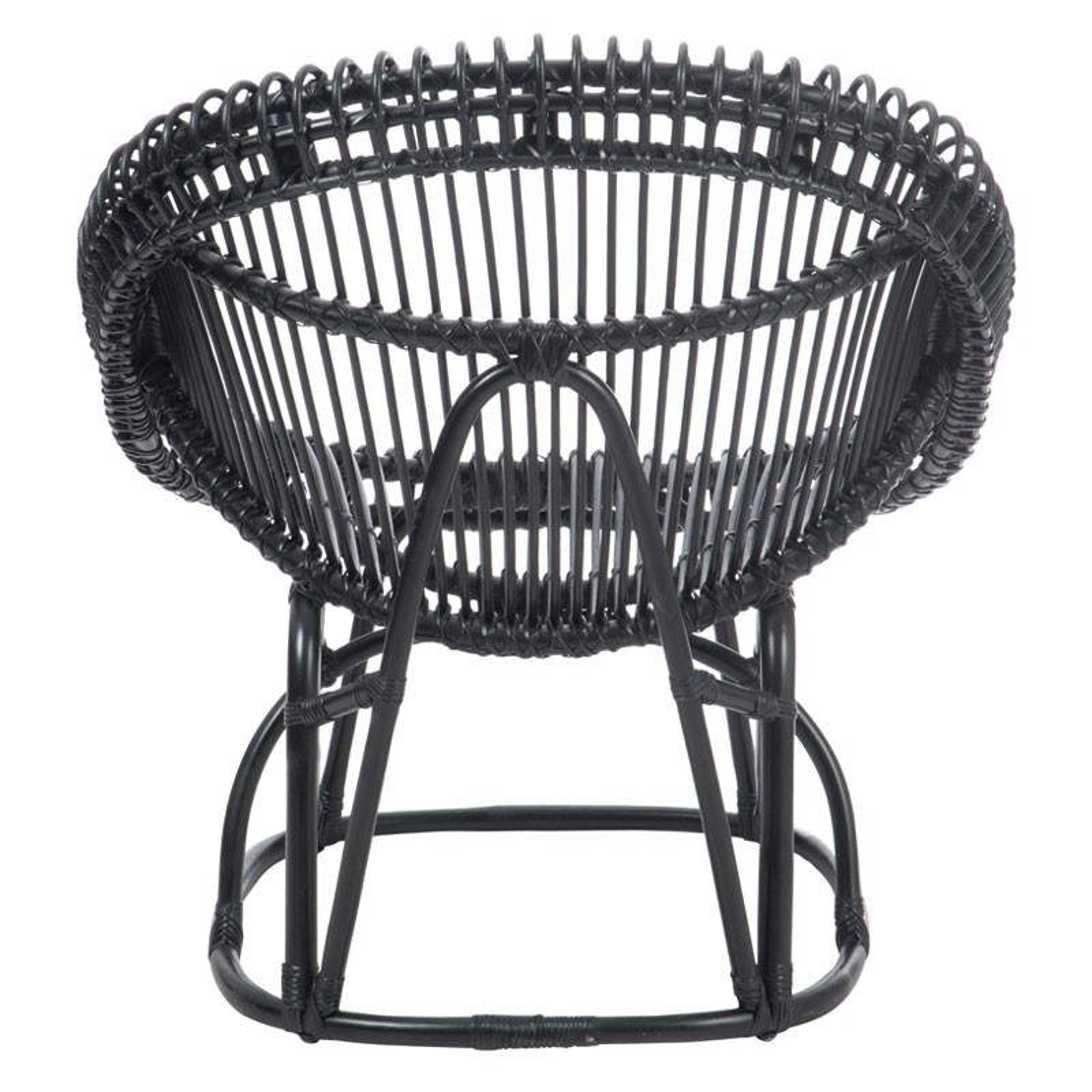 fauteuil rotin noir mat kohtao univers du salon et assises. Black Bedroom Furniture Sets. Home Design Ideas