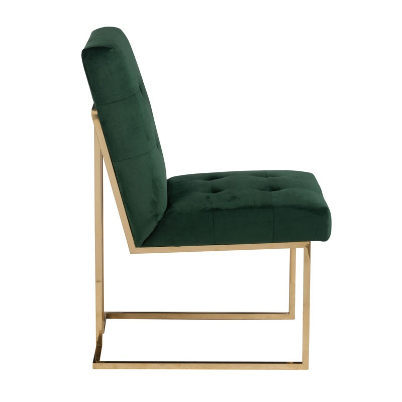 Duo De Chaises Velours Vert Velly Univers Des Assises