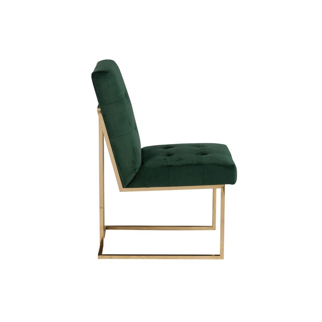 duo de chaises velours vert velly univers des assises. Black Bedroom Furniture Sets. Home Design Ideas
